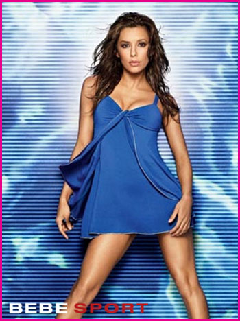 Sexy Eva Longoria for Bebe Sport's Summer Ads