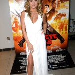 Alexa Vega in White Dress at Machete Kills Red Carpet