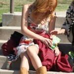 Bella Thorne - On set of her new movie 'Alexander', Pasadena .October 12, 2013
