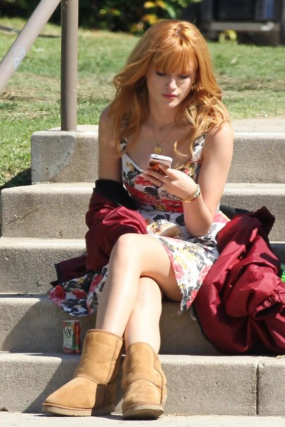 Bella Thorne - On set of her new movie 'Alexander', Pasadena .October 12, 2013