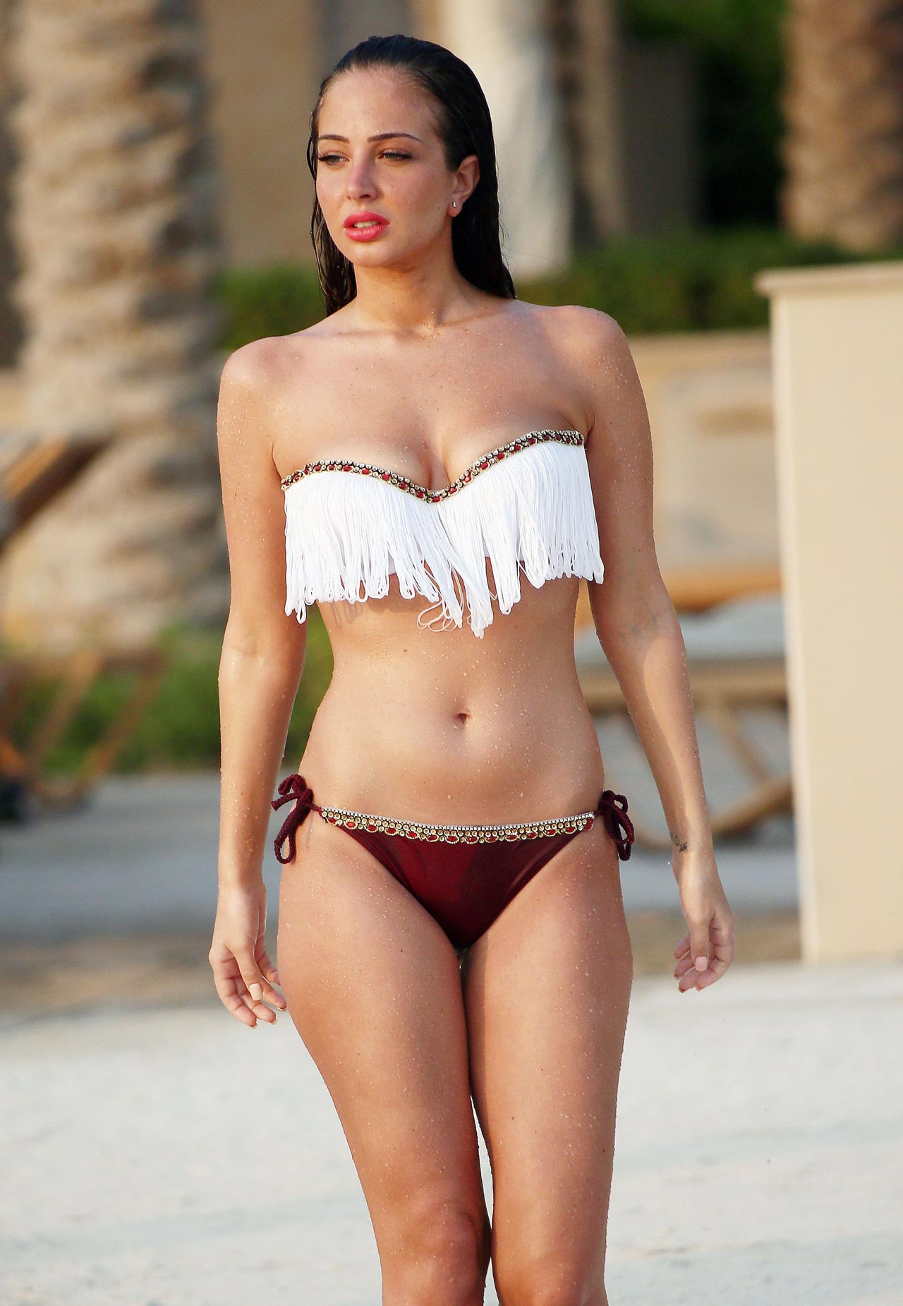 Tulisa Contostavlos In Bikini Dubai October 2013
