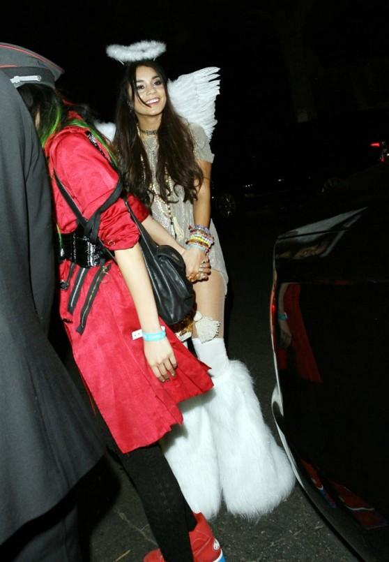 Vanessa Hudgens is an Angel at A Halloween Party In Beverly Hills