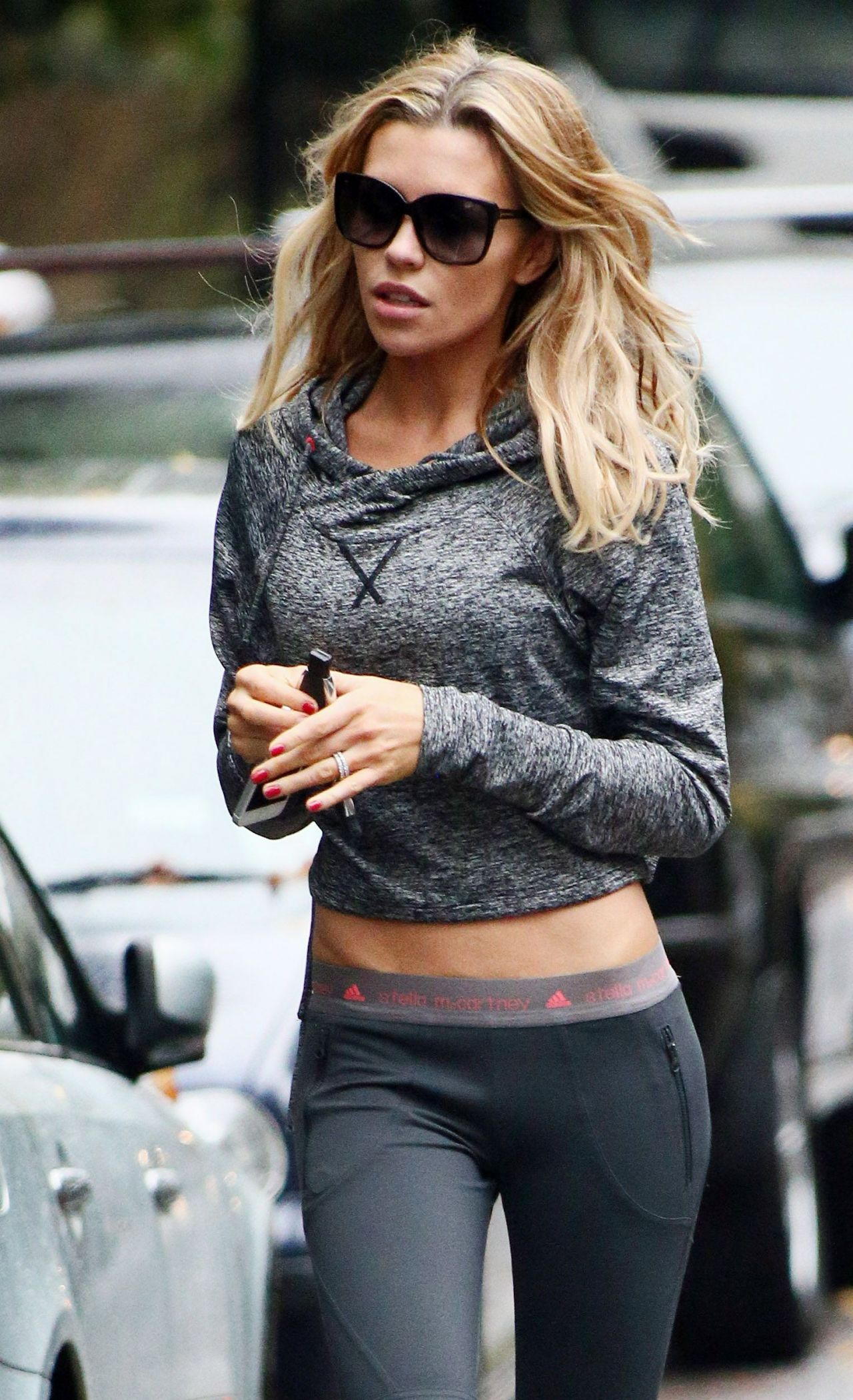 Abbey Clancy Street Style North London Kimberly Williams Paisley Arrives Good