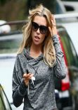 Abbey Clancy Street Style -  in North London