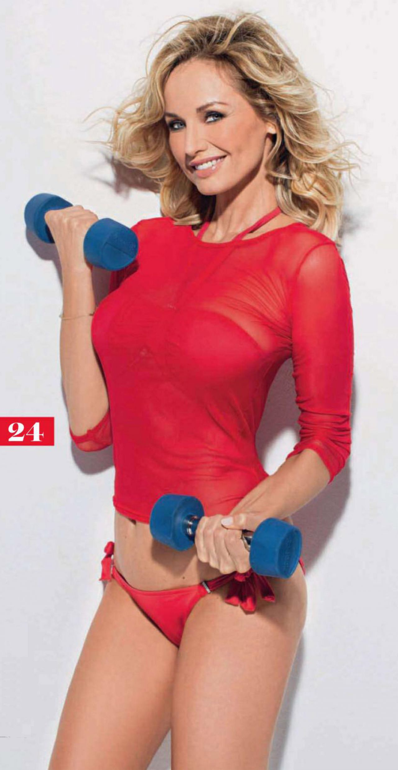 Adriana Karembeu in SHAPE Magazine (FR), October 2013 Issue