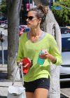 Alessandra Ambrosio in Tiny Spandex Shorts