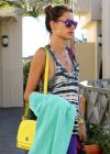 Alessandra Ambrosio Leaving Yoga Class, Santa Monica October 2013.
