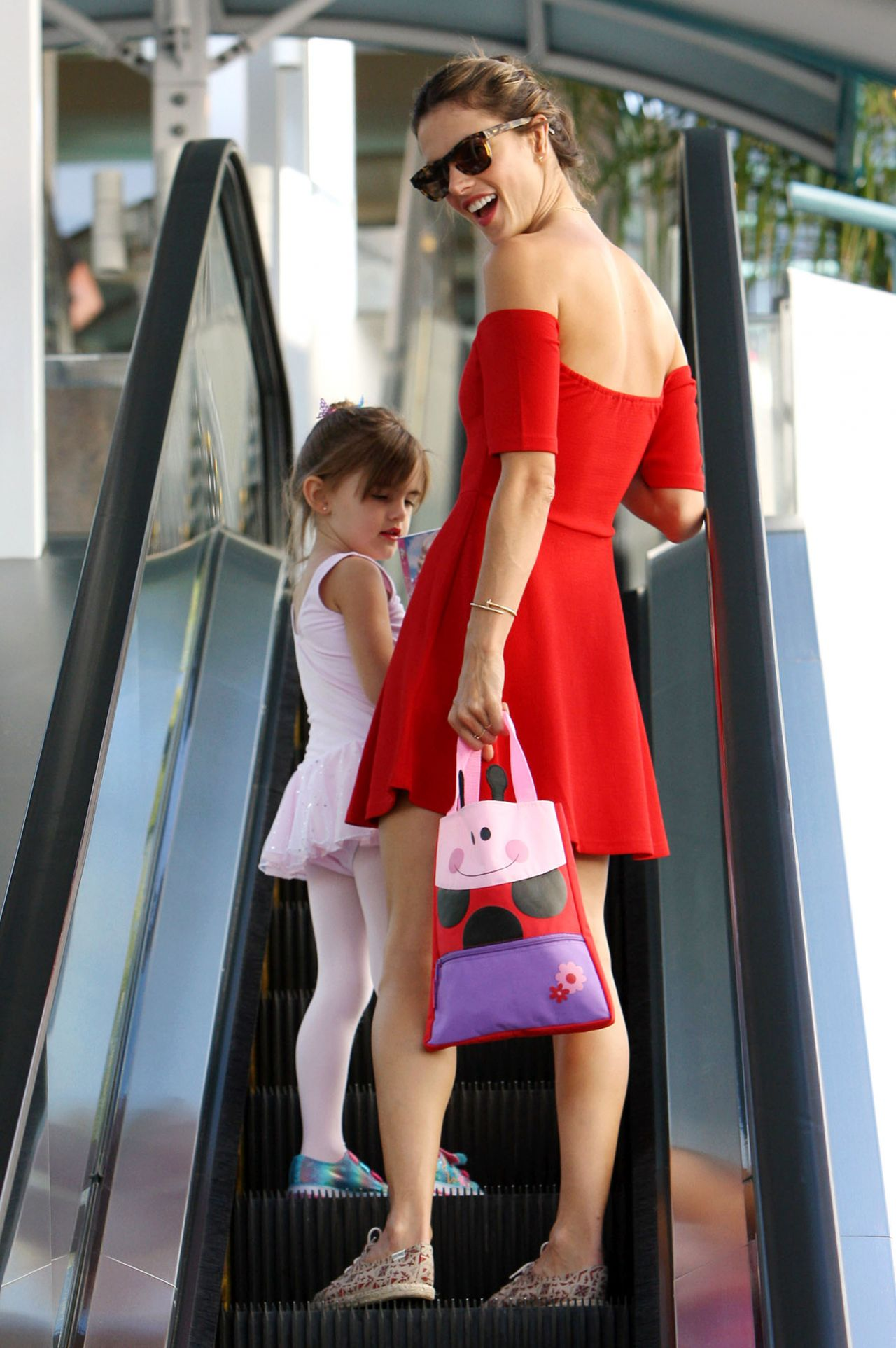Alessandra Ambrosio - Takes Her Daughter Anja to Ballet