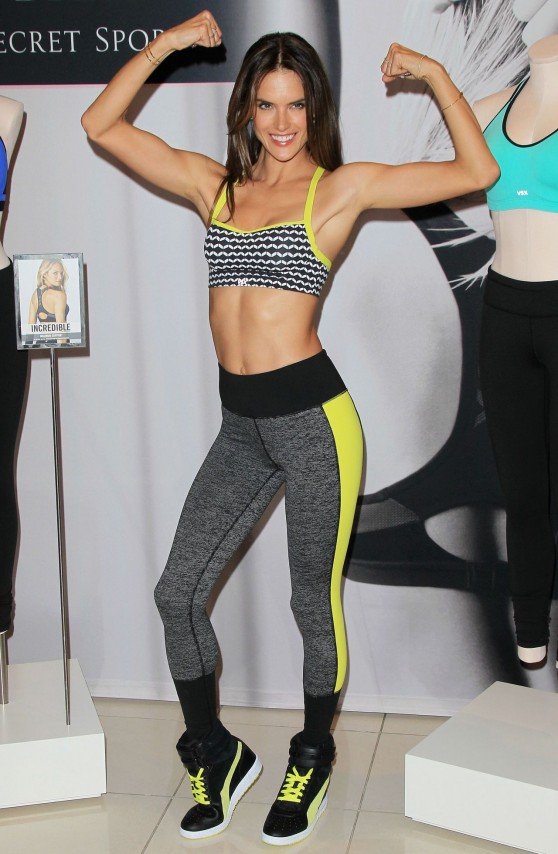 Alessandra Ambrosio - Victoria's Secret Angel Celebrates World's Best Sport Bras
