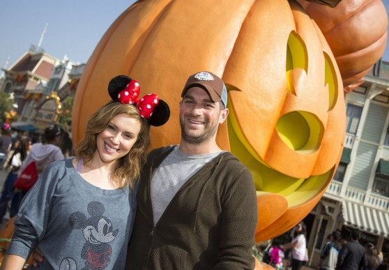 Alyssa Milano and David Bugliari Celebrate 'Halloween Time' at Disneyland - October 2013