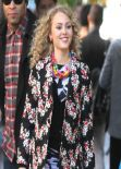 AnnaSophia Robb Street Style - on the Set of