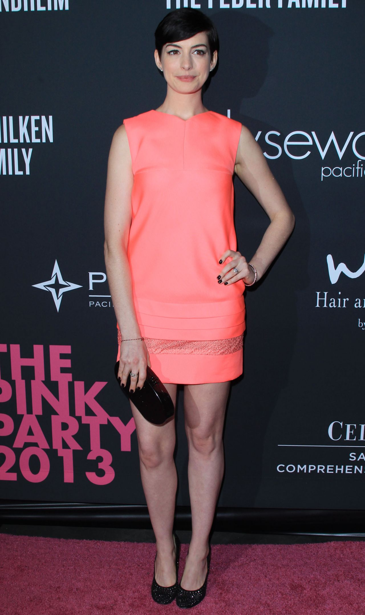 Anne Hathaway in Pink - Elyse Walker Presents The Pink Party 2013