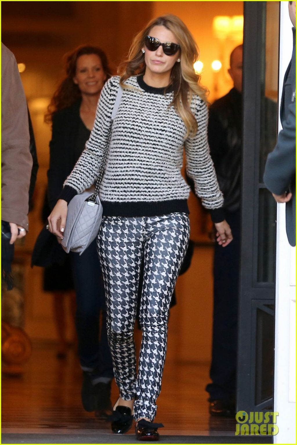 blake lively street style leaving her hotel in paris