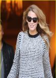 Blake Lively Street Style - Leaving her hotel in Paris