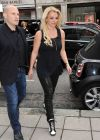 Britney Spears in Leather, London 2013