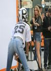 Cara Delevingne - DKNY Photo Shoot Set Candids