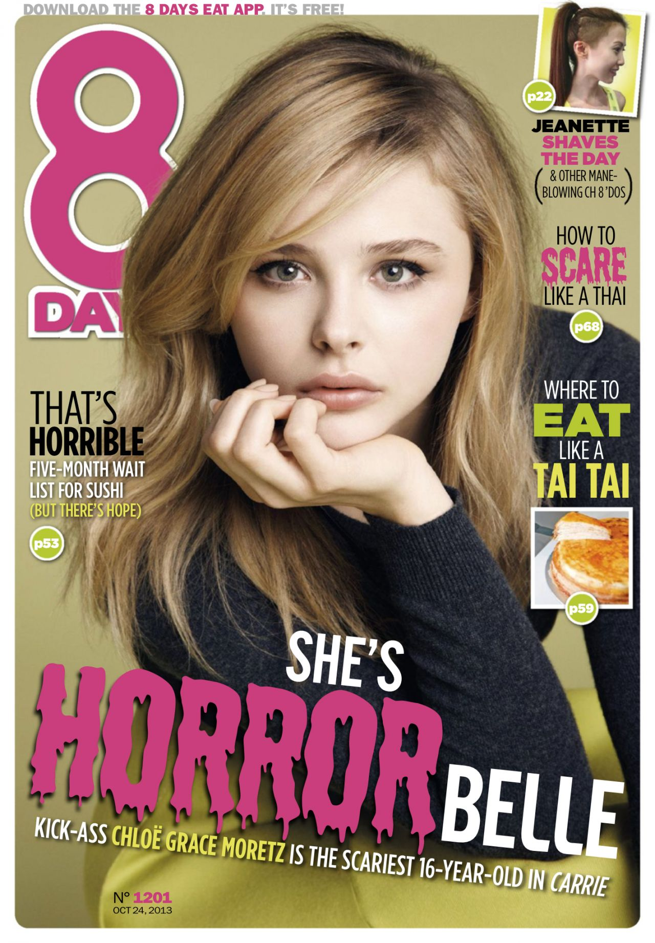 Chloe Moretz – 8 DAYS Magazine – October 2013 Issue
