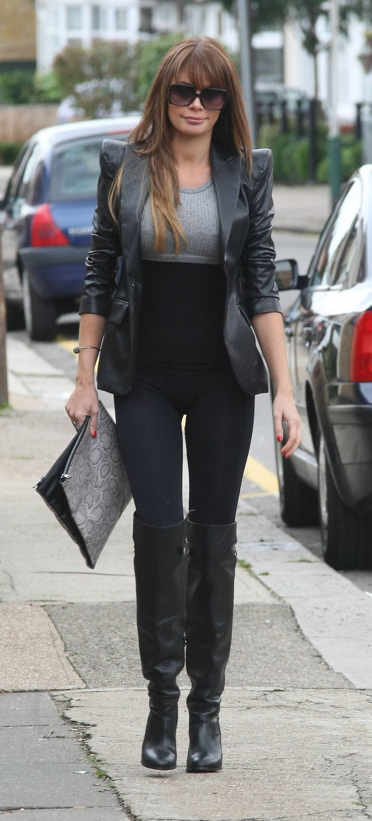 Chloe Sims in Black Spandex - Opening a Tanning Shop in Upminster