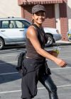 Christina Milian in Keather and a Tight Tank Top, at