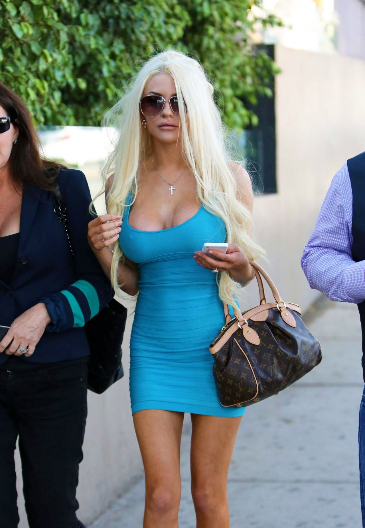 Courtney Stodden Street Style Leaving Bossa Nova