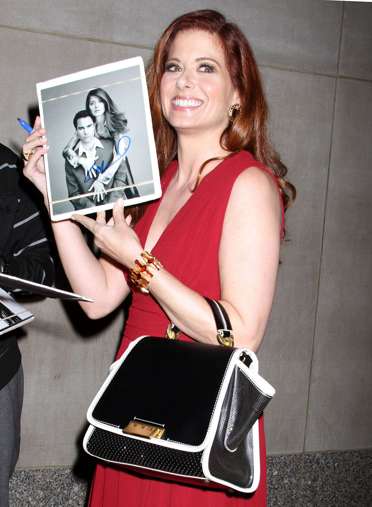 Debra Messing Street Style - Leaving Today Show