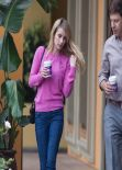 Emma Roberts Street Style - Grabs a Coffee To Go in Los Angeles