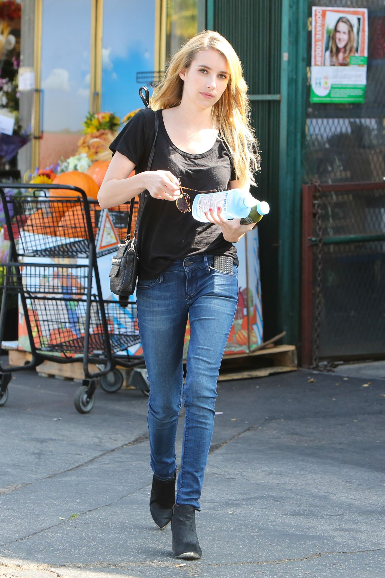 Emma Roberts Street Style  - Running Errands in Weho