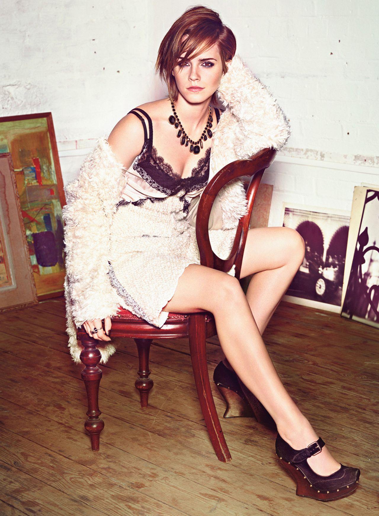 Emma Watson Glamour Magazine Us October 2013 Issue