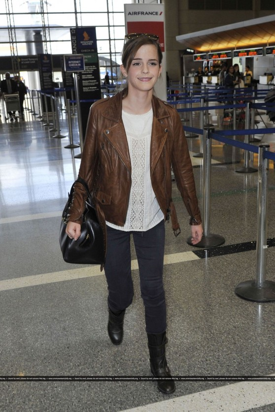 Emma Watson Street Style at LAX airport - October 2013