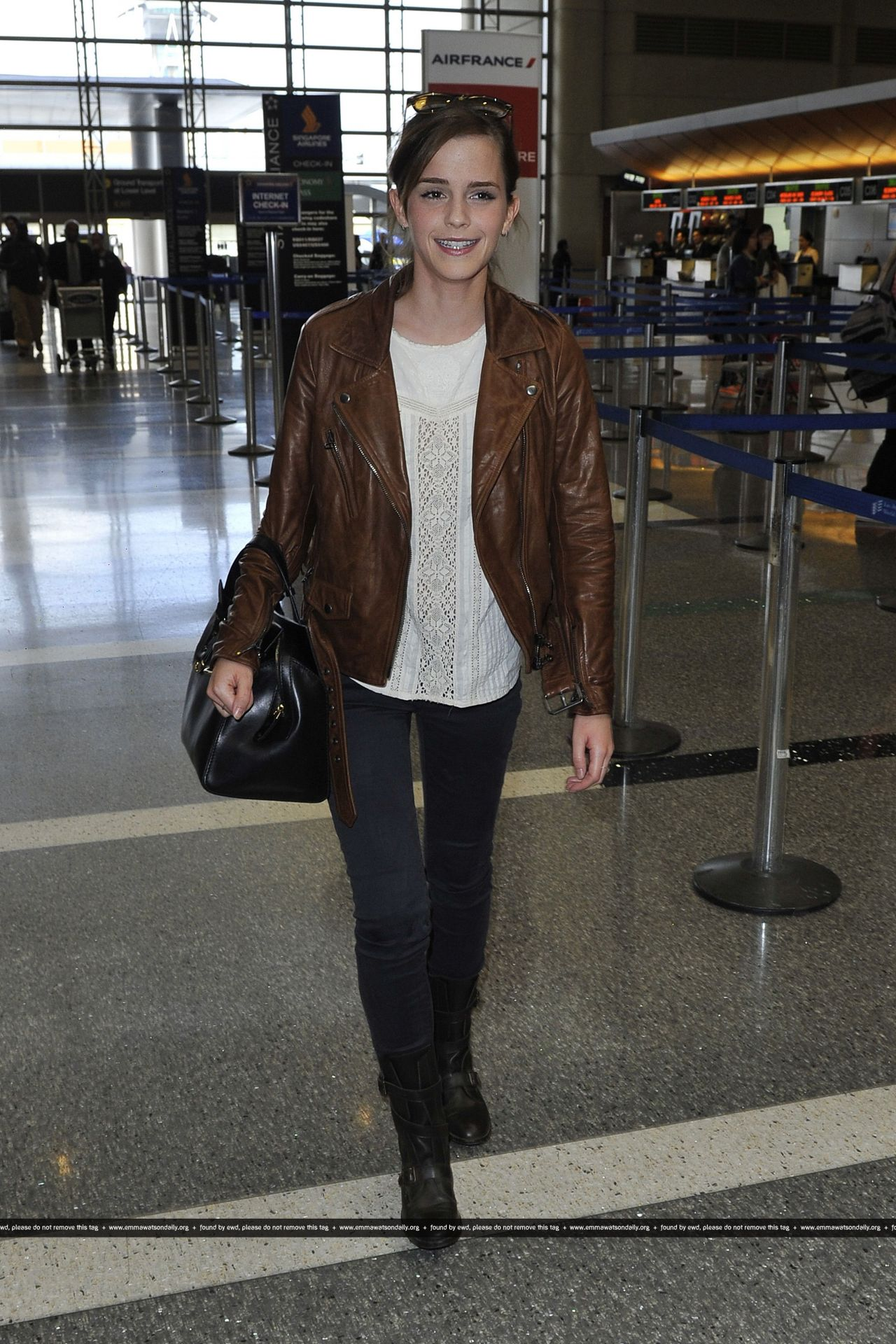 Emma Watson Street Style At Lax Airport October 2013