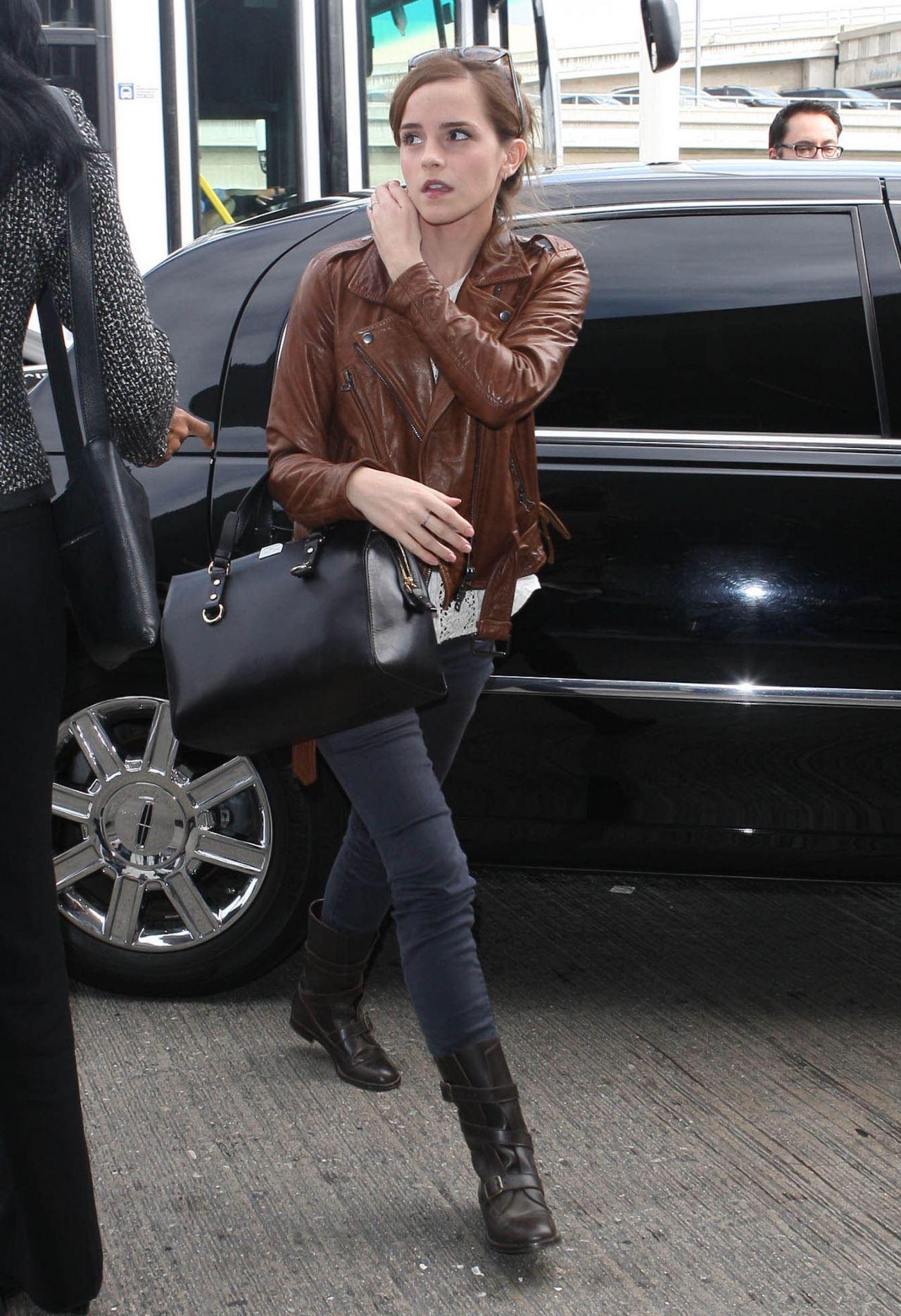 Emma Watson Street Style At Lax Airport October 2013