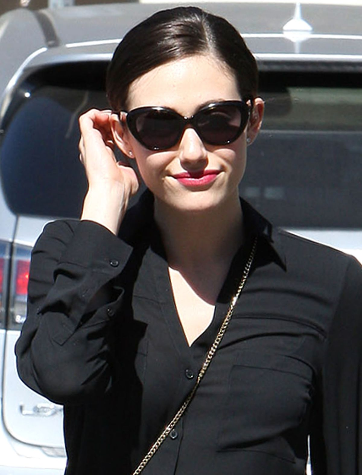 Emmy Rossum In All Black, Los Angeles