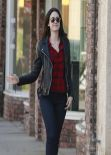 Emmy Rossum Street Style - Los Angeles October 2013