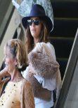 Eva Longoria Street Style - Lax Arrival Candids in Los Angeles