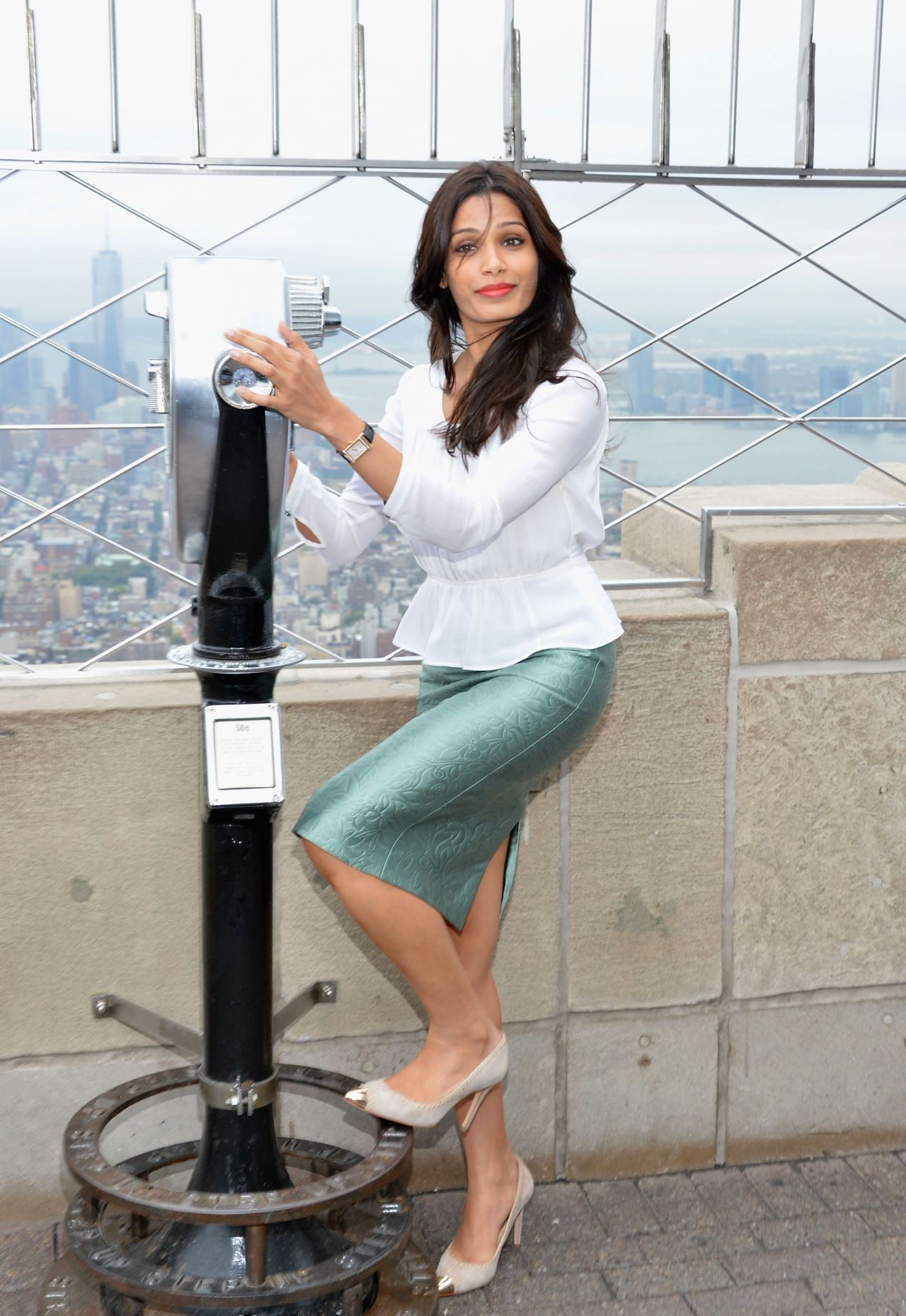 Freida Pinto Plan International Event at The Empire State Building in New York City