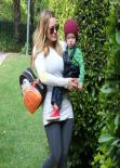 Hilary Duff Street Style - Out in Beverly Hills