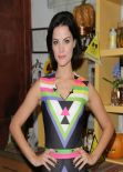 Jaimie Alexander On The Set Of Univisions Despierta America in Miami