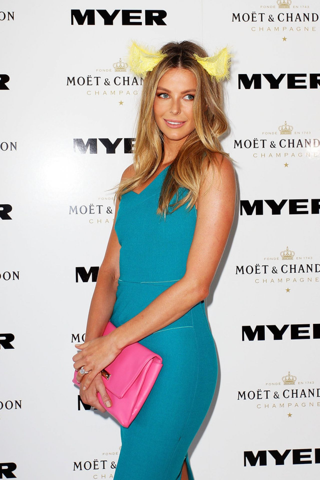 Jennifer Hawkins at Moet and Chandon Marquee