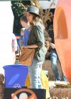 Jessica Alba in Jeans at Mr Bones Pumpkin Patch in West Hollywood