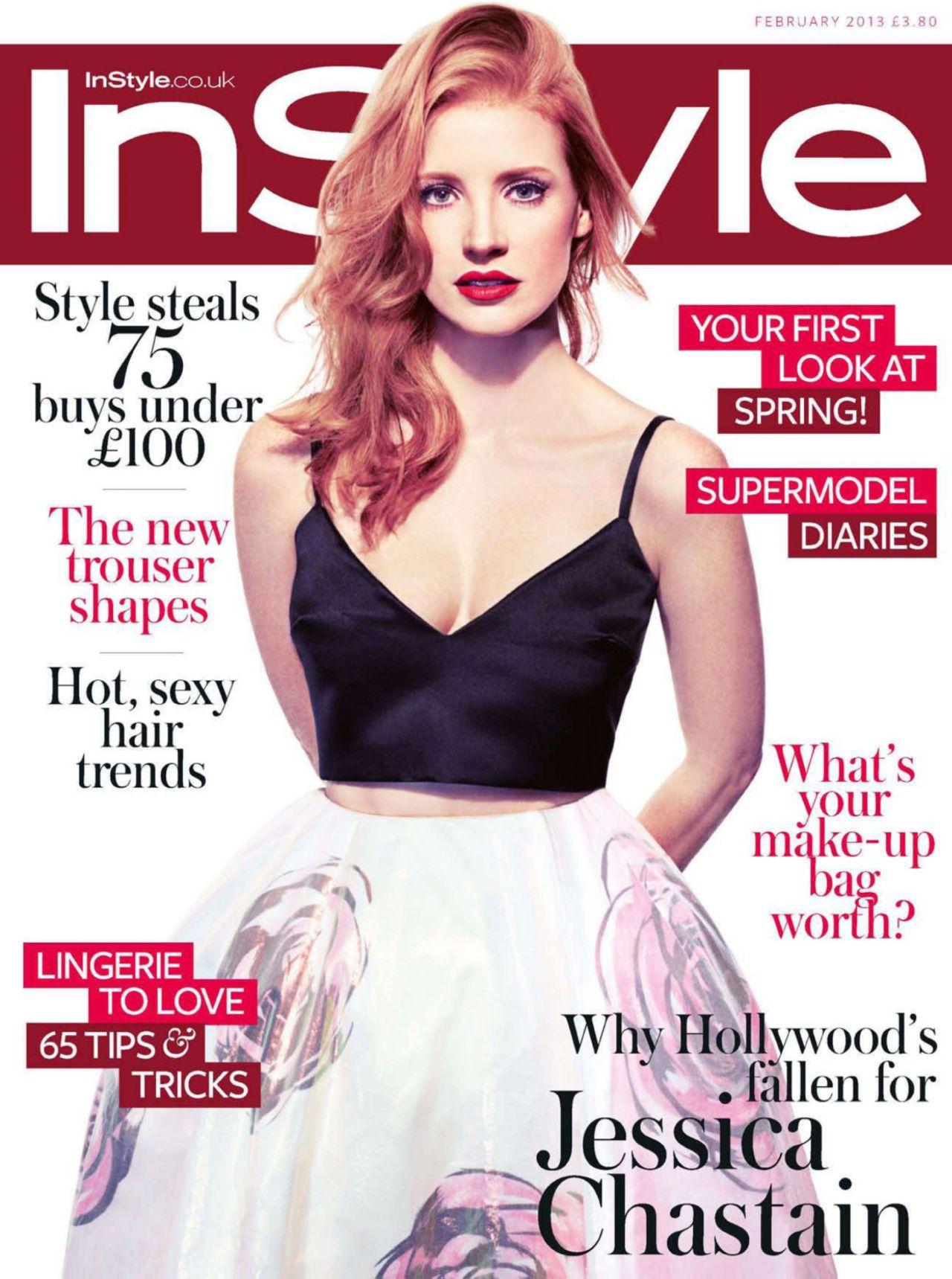 Jessica Chastain - InStyle UK February 2013 Issue