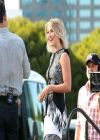 Julianne Hough on the Set of  EXTRA in Los Angeles