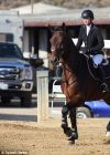 Kaley Cuoco Riding Her Horse in a Competition in Santa Barbara