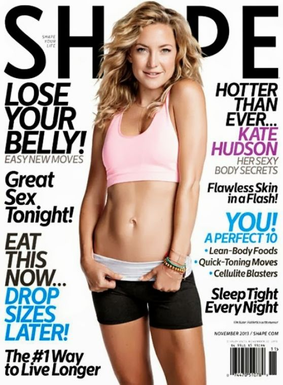 Kate Hudson in SHAPE Magazine