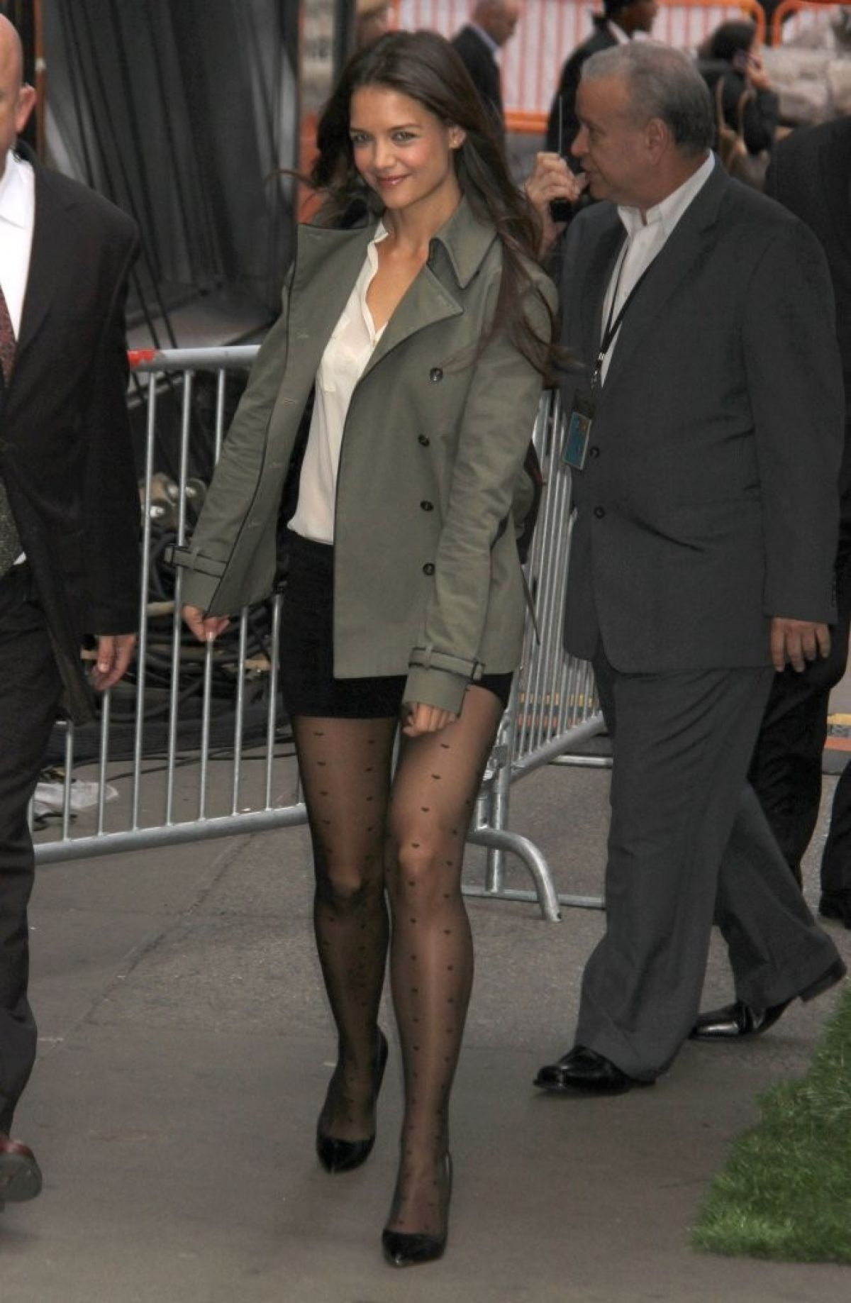 Katie Holmes Legs Abc Studios In New York City
