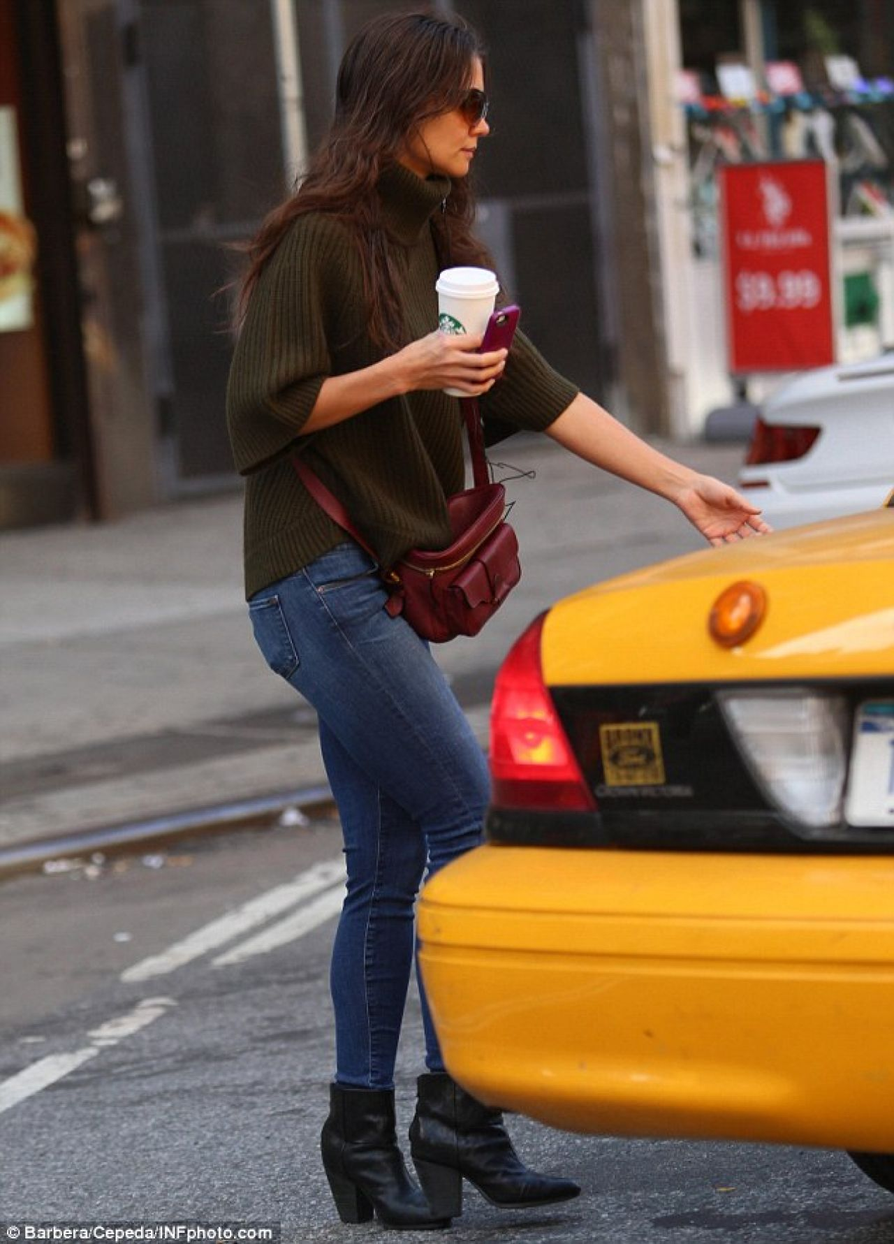 katie holmes street style in new york city october 2013