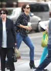 Katie Holmes Wears Jeans in New York City