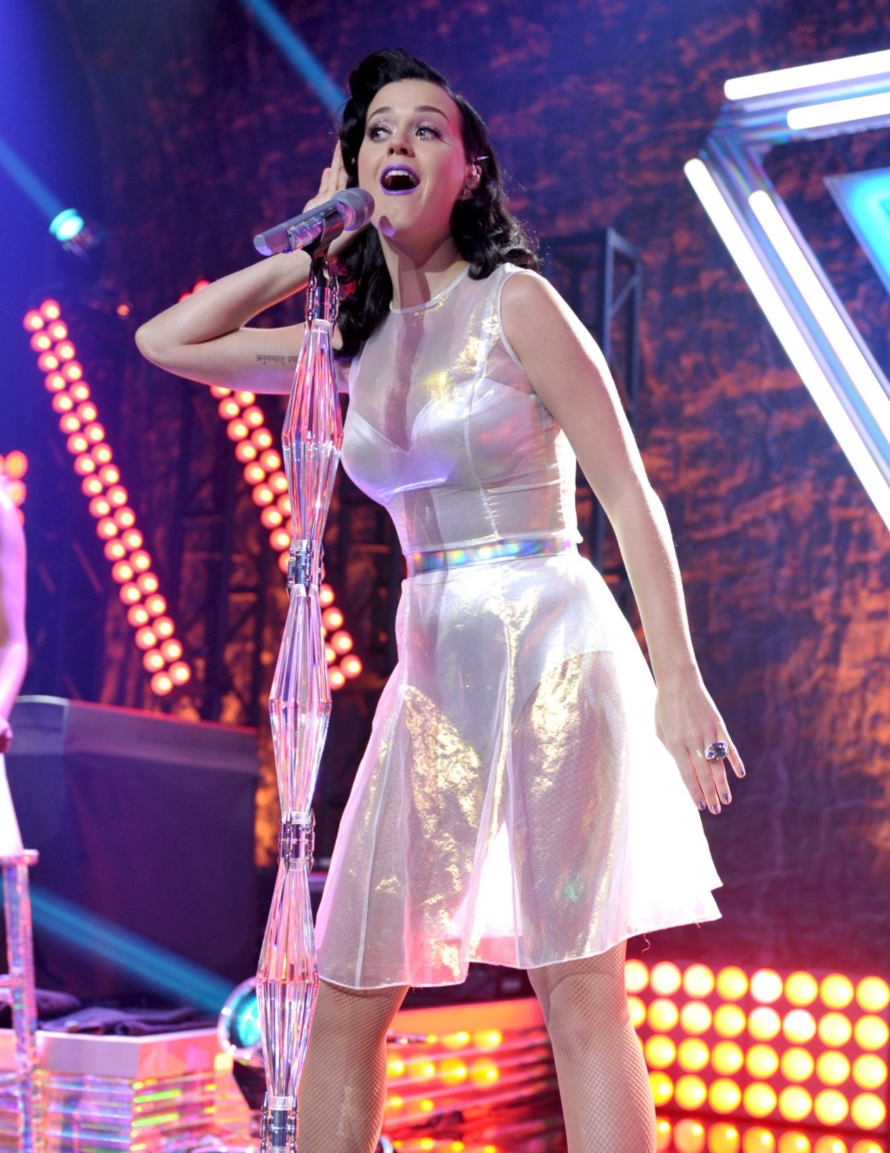 Katy Perry - See Through Skirt-5255