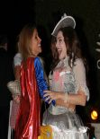 Kelly Brook as Marie Antoinette leaving a Halloween party in Beverly Hills