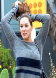 Kelly Brook Street Style - In Venice Beach - October 2013