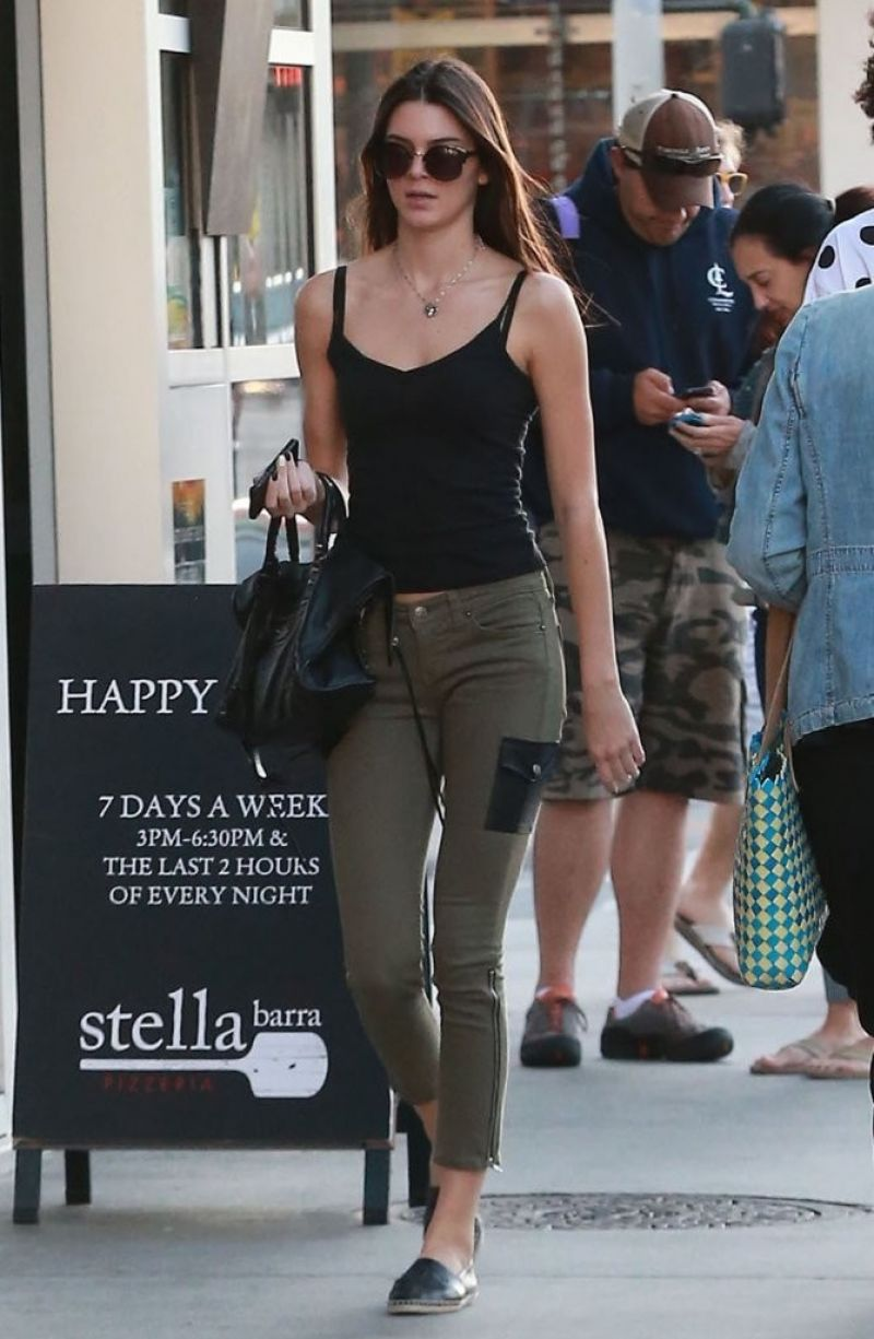 Kendall Jenner Street Style Out In Hollywood
